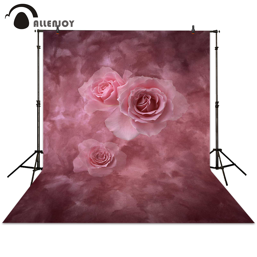 Allenjoy photography backdrops flower pink rose hazy bokeh background for photo studio photocall photo booth christmas background for photography wood flower green yellow rose colorful new born xmas customize photocall