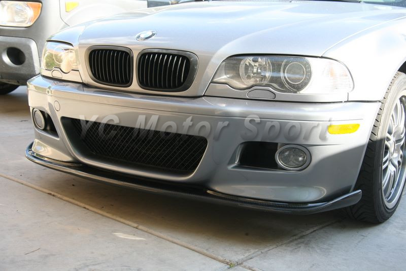 Car Accessories Carbon Fiber HM Style Front Lip Fit For 2000-2006 E46 M3 Front Bumper Lip Front
