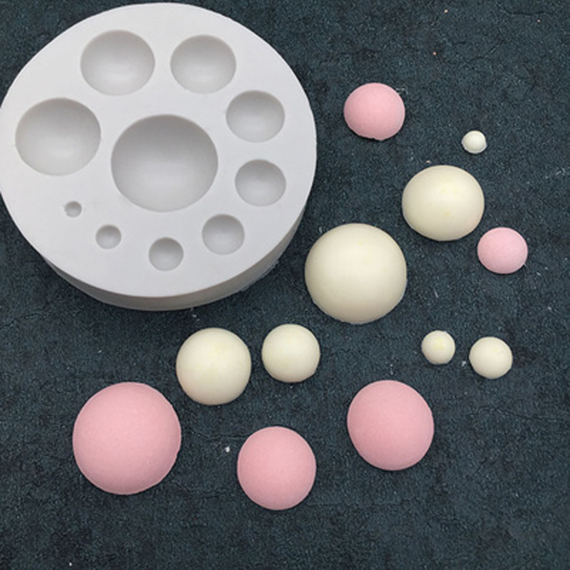 3D Half Ball Circle Sugarcraft Silicone Mold <font><b>Fondant</b></font> <font><b>Cake</b></font> <font><b>Decorating</b></font> <font><b>Tools</b></font> Kitchen Baking <font><b>Accessories</b></font> Party Chocolate Moulds image