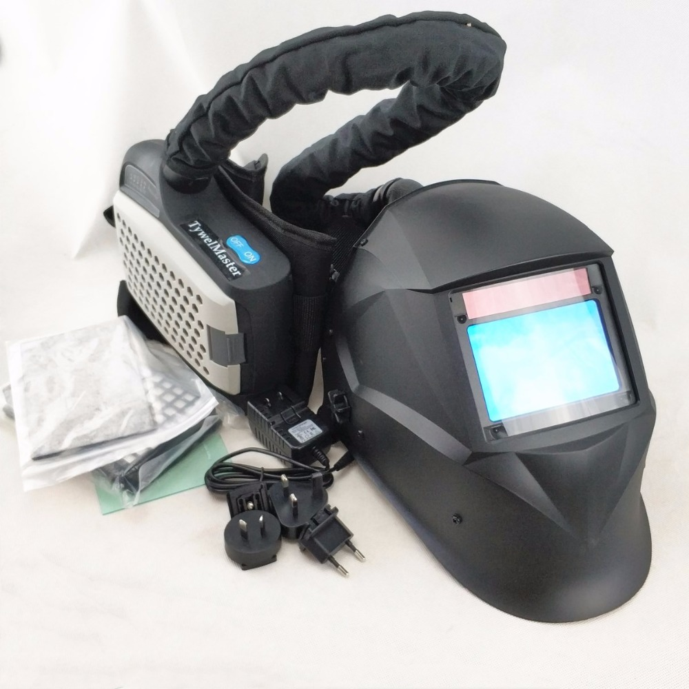 Respirador Purificador de Ar movido Auto Escurecimento Capacete de Soldagem Máscara de Solda Da Indústria de Equipamentos de Proteção Individual PAPR Kit