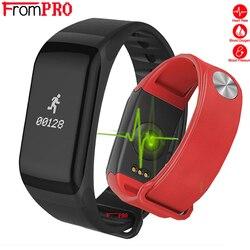 Braccialetto intelligente F1 Wristband di Sport di Frequenza Cardiaca Attività inseguitore di Fitness banda Intelligente Elettronica Passo Braccialetto Per Xiaomi pk fascia 3