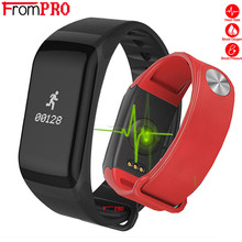 Smart Bracelet F1 Sports Wristband Heart Rate Activity Fitness tracker Smart band Electronics Step Bracelet For Xiaomi pk band 3(China)