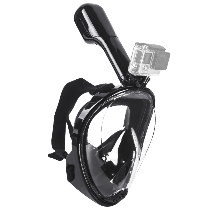 Swimming Diving Snorkeling Full Face Mask Surface Scuba for Gopro  (Adult Type) water pro liquid force mask scuba diving snorkeling