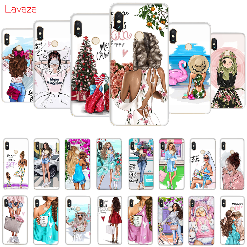 Lavaza Black   Brown Hair  Baby Mom Girl Queen Hard Case for Huawei Mate 10 20 P9 P10 P20 Lite Pro P smart for Honor 8X 10 Lite skipping rope