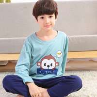 Catamite Spring And Long Sleeve Baby Children Pajamas Pure Cotton In Will Child Boy Covering clothe Summer Air Conditioner Serve