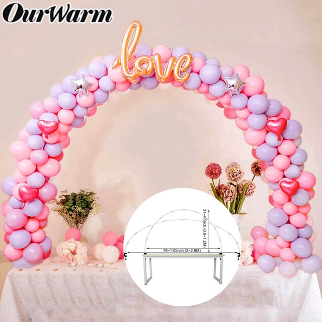 OurWarm קשת בלון חתונה בלון טור Stand מקל בלון שרשרת בלון רקע מסיבת יום הולדת לטובת שולחן קישוט