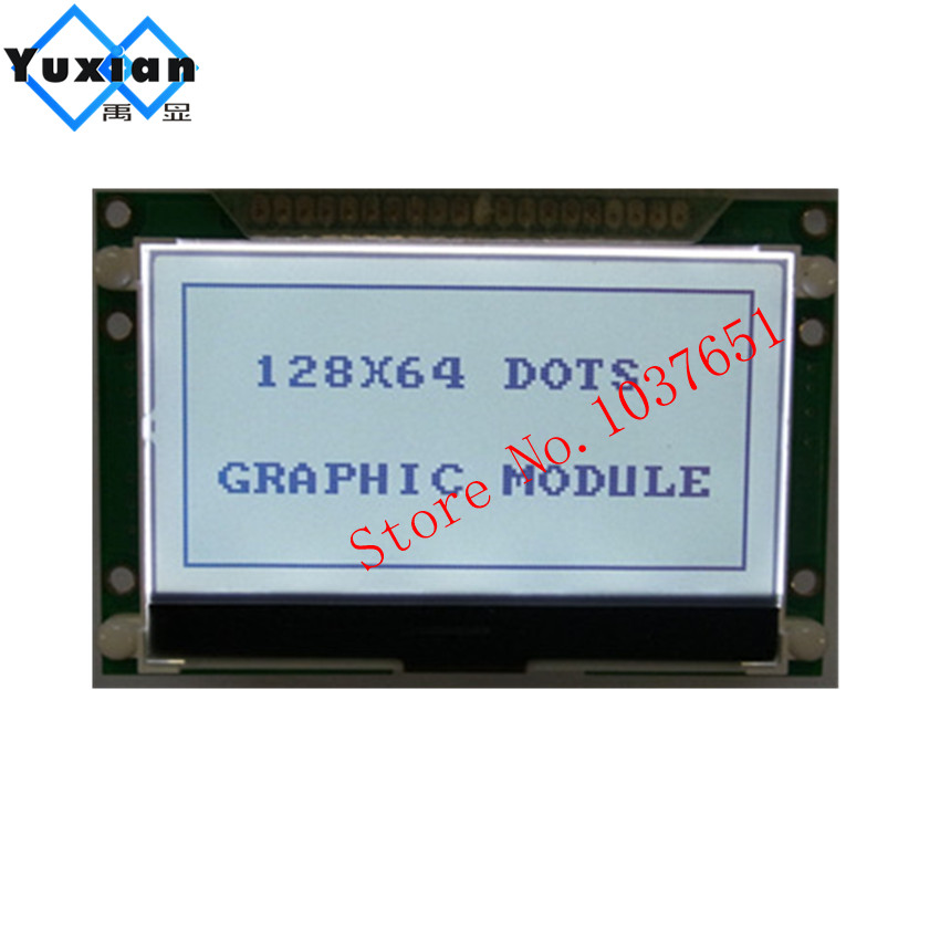 128x64 12864 cog Graphic lcd display 72x39mm ST7565P COG parallel serial SPI 3.3V LG12864UFFDWH6V-V33 good quality bright image