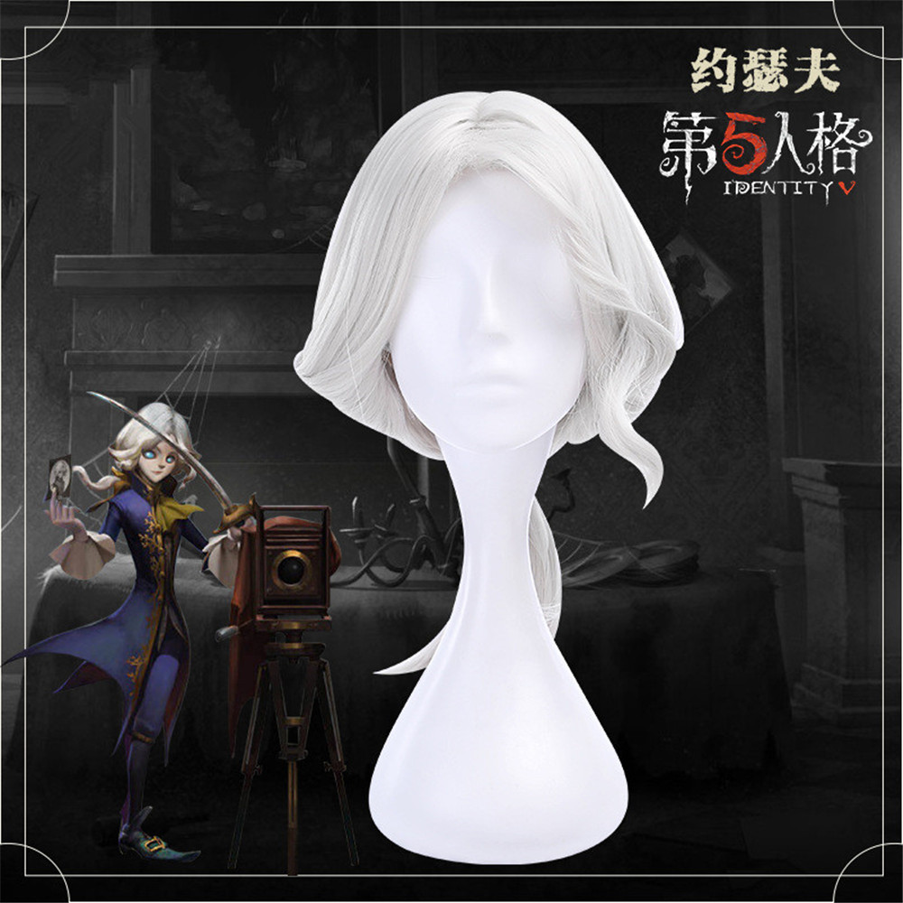Game Identity V Cosplay Wigs Photographer Joseph Cosplay Wig Heat Resistant Synthetic Wig Halloween Carnival Party Cosplay Wig