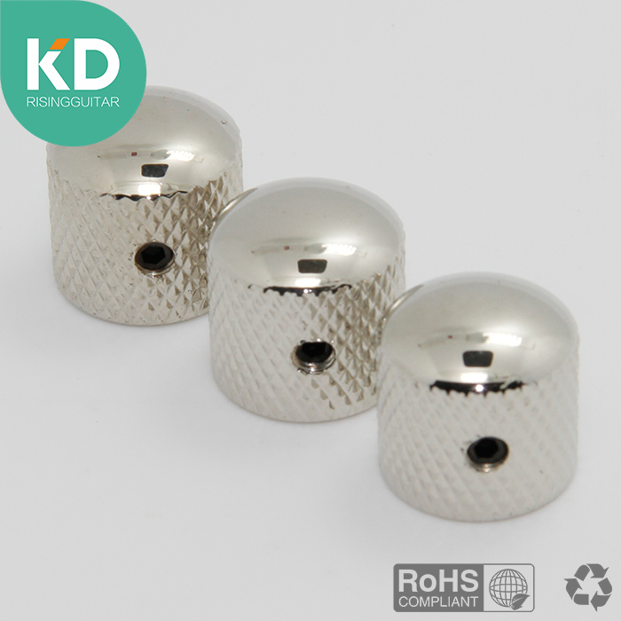 3 PCS Super Deal Volume Tone Control Knobs Guitar And Bass Metal Dome Knobs