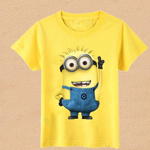054982de7ff HOT 2016 New children clothes boys girls unisex despicable me short sleeve  t shirt children minions