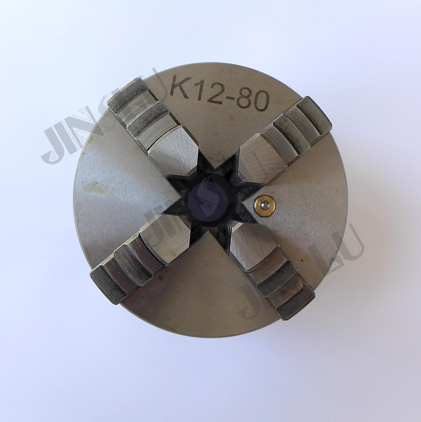 Free shipping Manual 4 Jaws Lathe Chuck 80mm K12-80 3''inch free shipping sanou brand lathe chuck k01 50 mini 3 jaws chuck m14 1