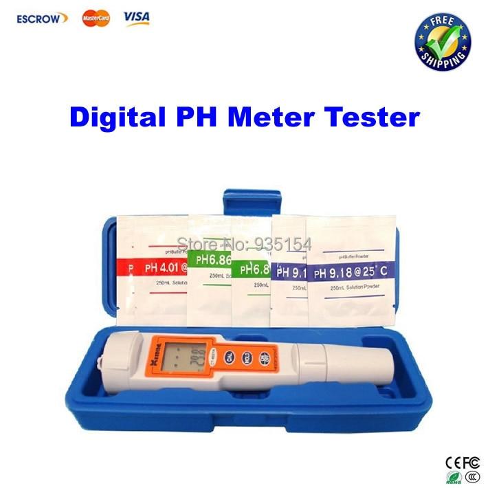 ФОТО Digital PH Meter Tester, high accuracy pH pen + buffer solutions, Water & Dust proof