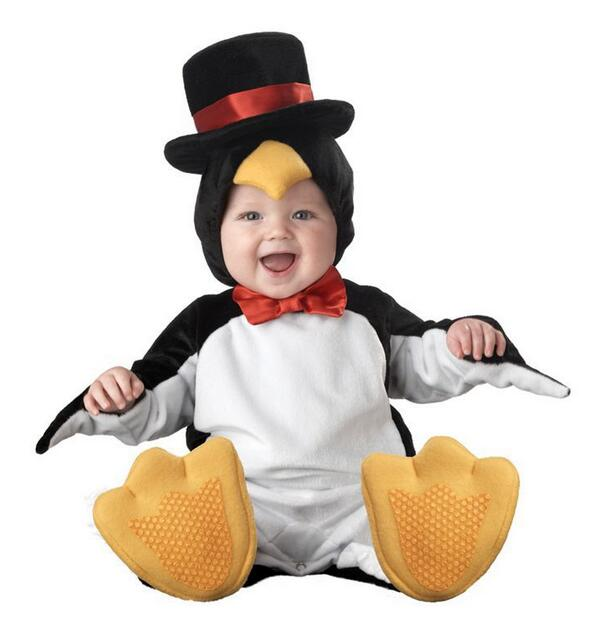 2017 carnival christmas xmas halloween costume infant baby boys penguin rompers cosplay newborn toddlers set - Baby Boy Halloween Costumes 2017