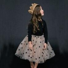 Детские весенние сетчатые платья; коллекция года; одежда из хлопка с длинными рукавами для больших девочек; детские осенние платья принцессы для детей от 6 до 14 лет