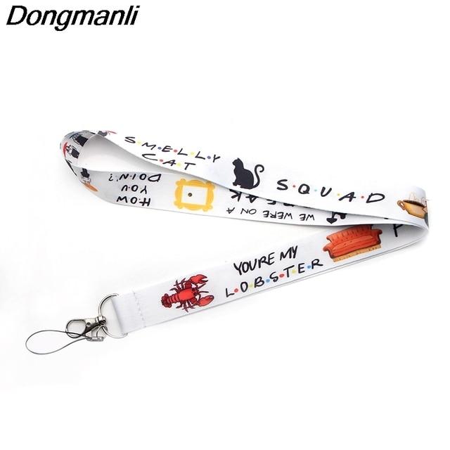 P3086 Dongmanli Friends TV Show Lanyard Badge ID Lanyards/cuerda de teléfono móvil/Cordón de llave correas de cuello Accesorios