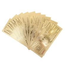 10 Uds EE. UU. 100 dólares de oro billete de dinero de papel moneda medalla 24k de los Estados Unidos de América