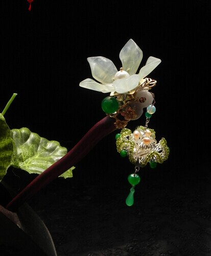 Red Sander Wood Jade Lily Yu Sheng Xiang Vintage Classica Hair Stick Hair Jewelry саше yu xiang tang