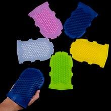 1Pcs Body Bath Brush Soft Silicone Massage Scrub Gloves Exfo