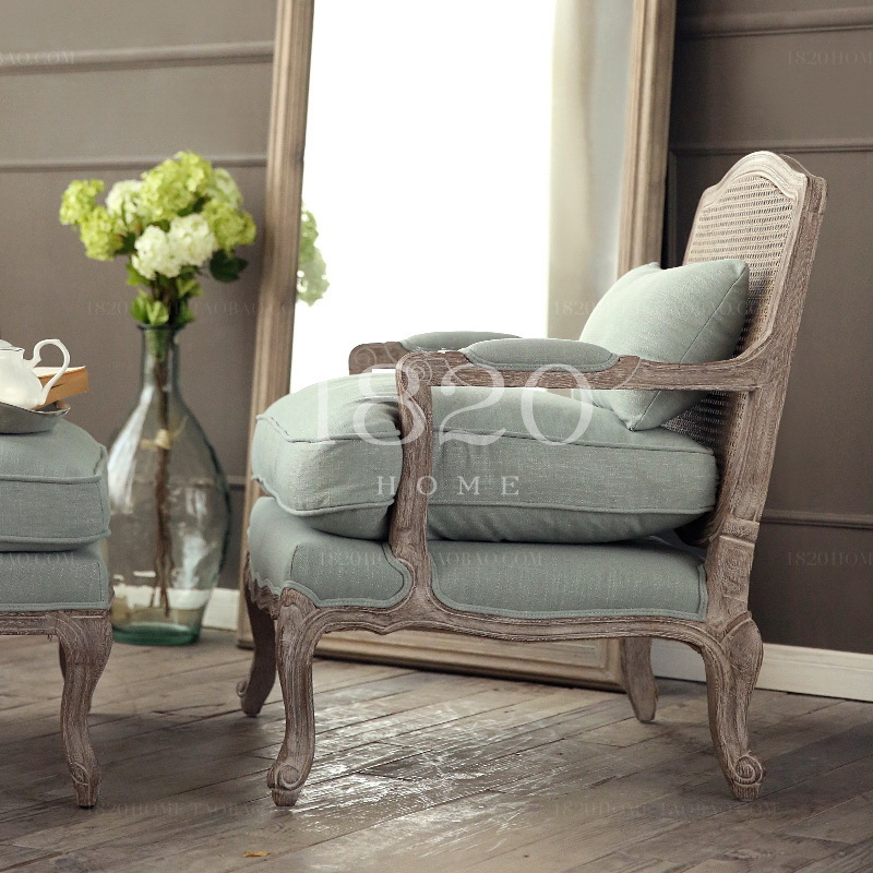 Good 1820 French Country Rattan Surface Burlap Bag Soft Wood Armchair Chair  Salon Chair Gwen Nice Oak In Hotel Sofas From Furniture On Aliexpress.com |  Alibaba ...