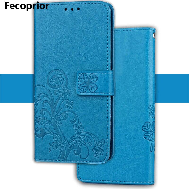 Fecoprior ZC551 чехол для Asus <font><b>Zenfone</b></font> <font><b>3</b></font> Laser ZC551KL задняя крышка тиснение кожи Filp повезло лист бумажник карты держать стенд celulars