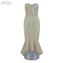 Adyce Summer Women Bandage Dresses Vestidos Verano 2018 Sexy Sleeveless Strapless Elegant Clubwears Celebrity Party Runway Dress