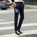 2016 men's spring new trousers cultivate one's morality sweatpants bump color small straight han edition slacks