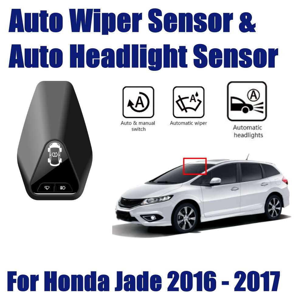Car Automatic Rain Wiper Sensors Headlight Sensor For Honda Jade 2013 2019 Smart Auto Driving Assistant System in Switch Control Signal Sensor from Automobiles Motorcycles