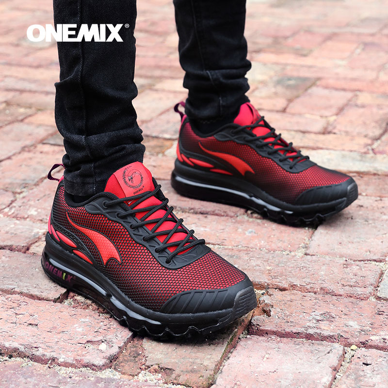 ONEMIX Men Running Shoes Nice Trends Run Breathable Mesh Sport Shoes for Boy Jogging Shoes Outdoor