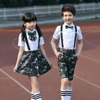 Kids School student clothes set summer boys clothing sets boy formal clothes for children's day party ceremony costume for girls