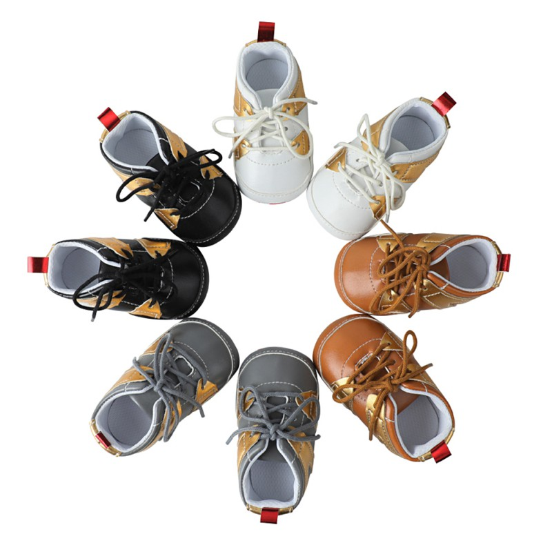 Baby Moccasins Baby Shoes Boy Girl Soft Sole Booties Newborn Kids Shoes First Walkers PU Leather 0-18 Months
