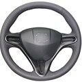 Черный Искусственная Кожа Автомобилей Руль Обложка для Honda Civic Старый Civic 2006-2011
