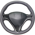 Black Artificial Leather Car Steering Wheel Cover for Honda Civic Old Civic 2006-2011