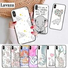 Lavaza Cartoon cute elephant Silicone Case for iPhone 5 5S 6 6S Plus 7 8 11 Pro X XS Max XR lavaza cartoon mickey mouse couple silicone case for iphone 5 5s 6 6s plus 7 8 11 pro x xs max xr