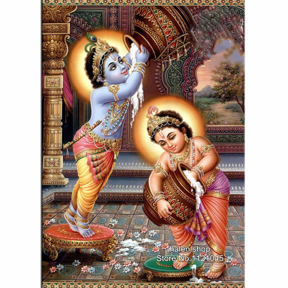 Needlework Square Diamond Embroidery Diy Full Diamond Painting Cross Stitch Lord Krishna 5D Crystal Rhinestones Mosaic DF550Needlework Square Diamond Embroidery Diy Full Diamond Painting Cross Stitch Lord Krishna 5D Crystal Rhinestones Mosaic DF550