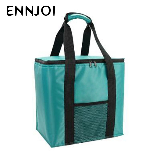 Portable Thermal Insulated Cooler Picnic Bag Food Box Handbag Outdoor Picnic Storage Bag 20L Lunch Bag