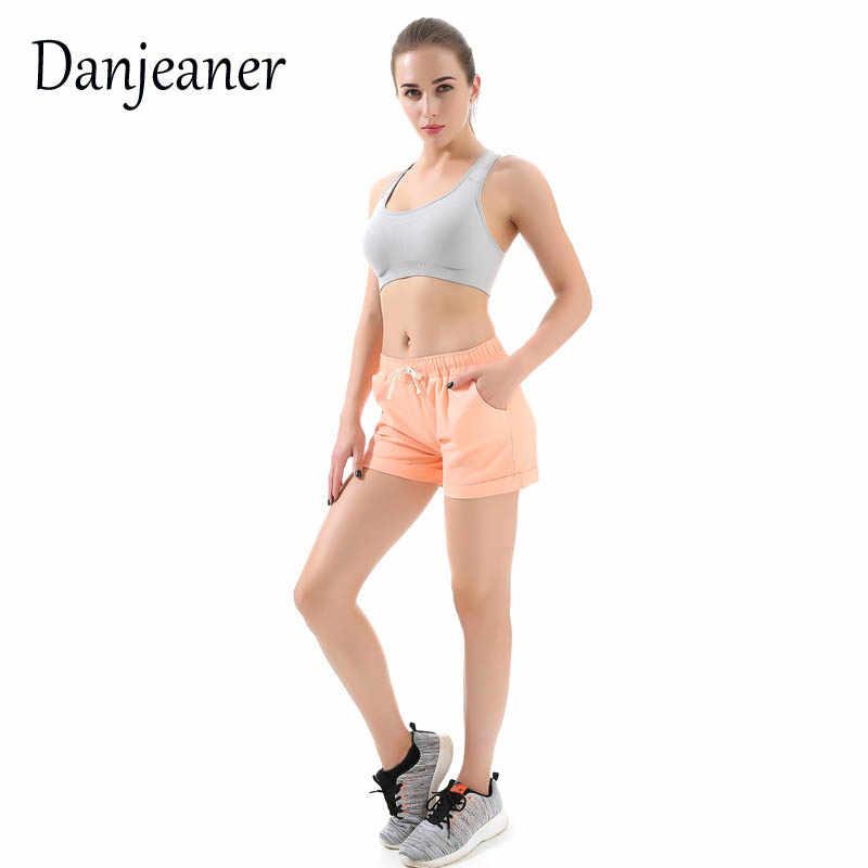 Danjeaner kobiety bawełniane spodenki 2018 moda lato cukierki kolor elastyczny sznurek do ściągania talii krótkie spodnie kobieta spodenki na co dzień