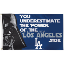 Los Angeles Dodgers Star Wars MLB Flag Large Outdoor MLB Banner Flag 3′ x 5′ NFL NHL Fan Flag Banner brass metal holes Flag