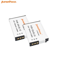2X ENEL12 EN-EL12 Battery for Nikon Coolpix A900 AW130 AW120 S9900 S9500 W300 S9700 S9600 S6000 S8200 AW110 S9100 S9400 L15 цена 2017