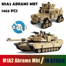 Joyyifor Compatible with LegoINGLYS Kazi Military M1A2 Tank Collection Series Trans Toys ABRAMS MBT HUMMER Model kits Blocks(China)