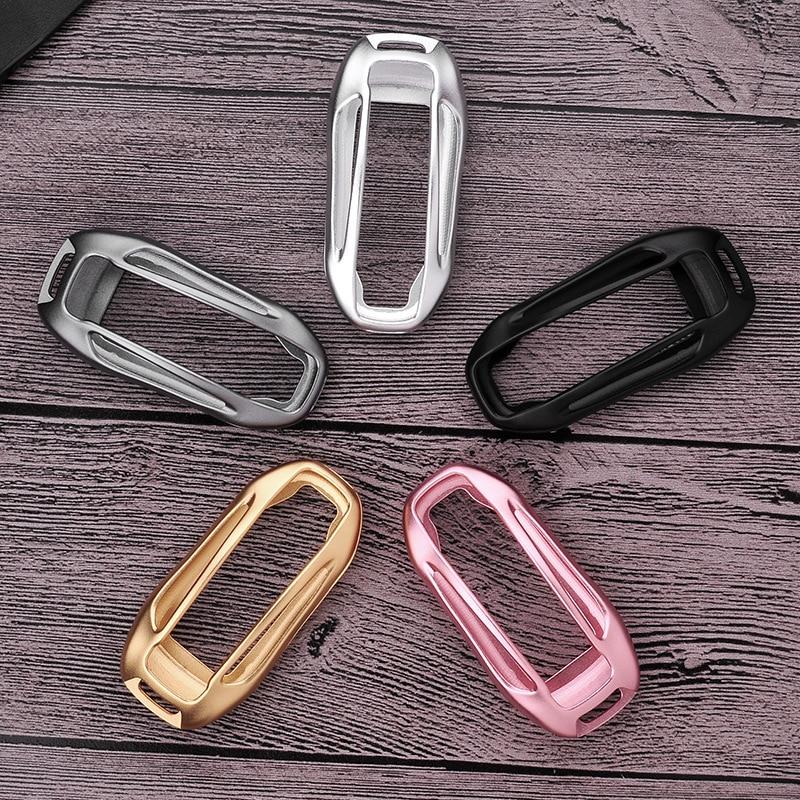 Тесла модель X кольцо для ключей Алюминий сплава плетеная веревка пряжки Автомобиль Smart Key чехол удаленного Управление ключ Shell протектор