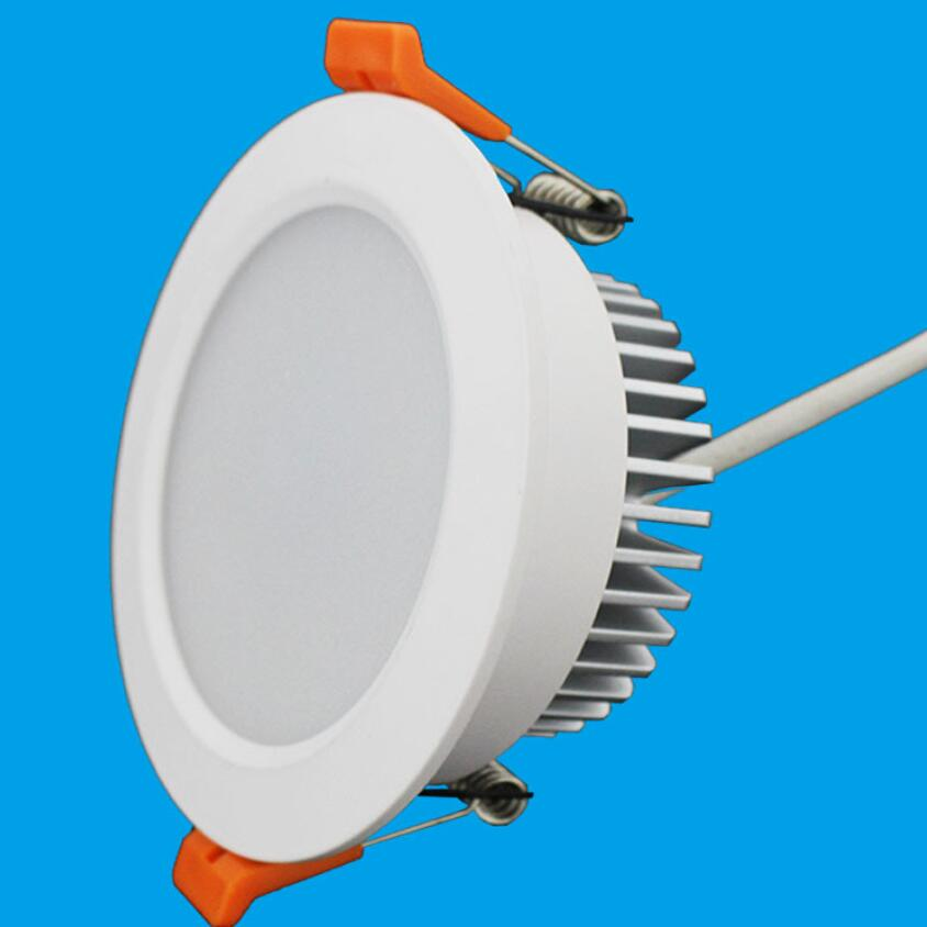 15W  LED Lamp Dimmable LED downlight Cold Warm White Recessed down lamp home decoration Lighting LED light kitchen bathroom 6pcs set with driver cable connector cree 3w mini led cabinet downlight led recessed cabinet spot light white warm white
