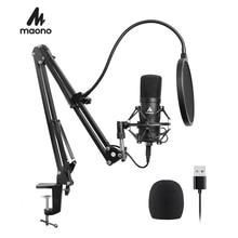 MAONO Professional Studio Microphone Podcast USB Microphone Kit Karaoke Condenser Microphone for Computer YouTube Recording
