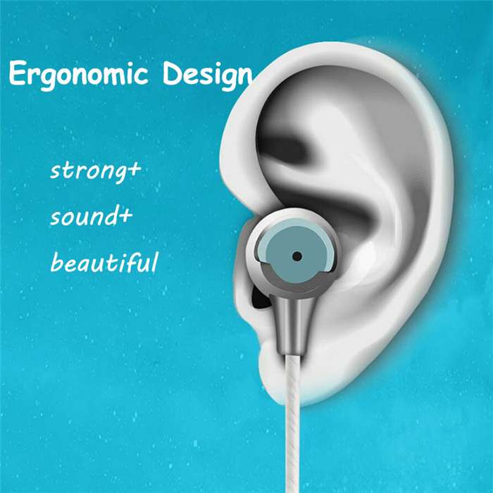 Bass In-ear Earphones Super Clear Metal Earphone Noise isolating Earbud Stereo Deep Bass Headset for Sony Xperia C3 C4 T2 E4g M5