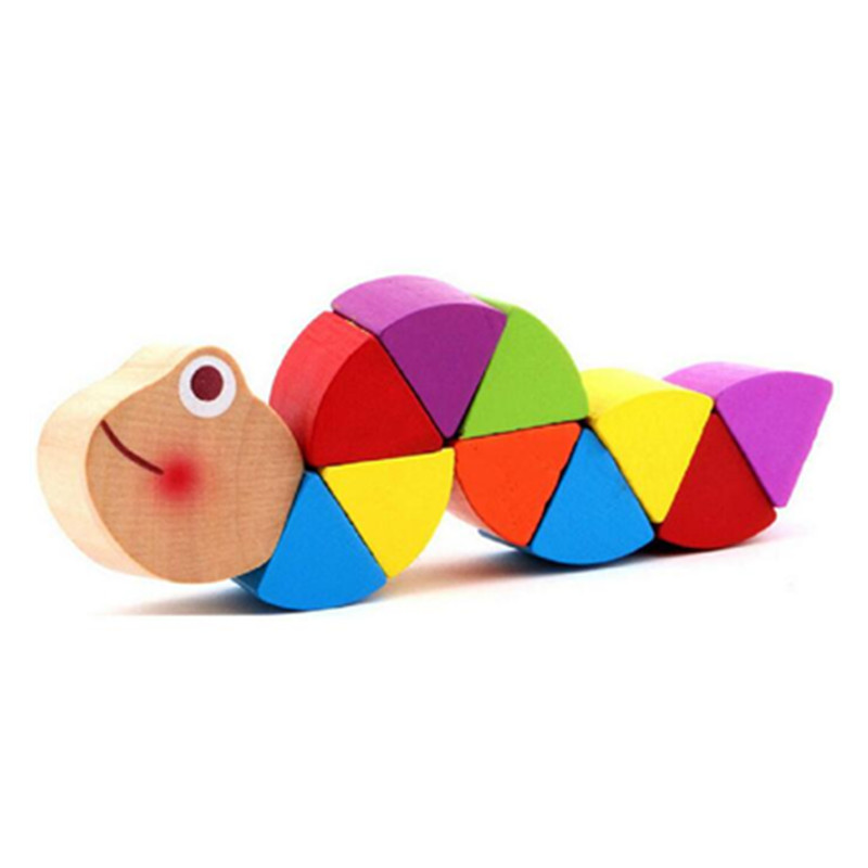 Montessori Toys Educational Wooden Toys for Children Early Learning Exercise Baby Fingers Flexible Kids Wood Twist