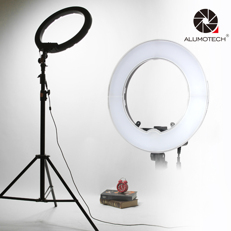 Bi-color Dimmable Step less 40W LED SMD Circle Light For Camera Video Studio