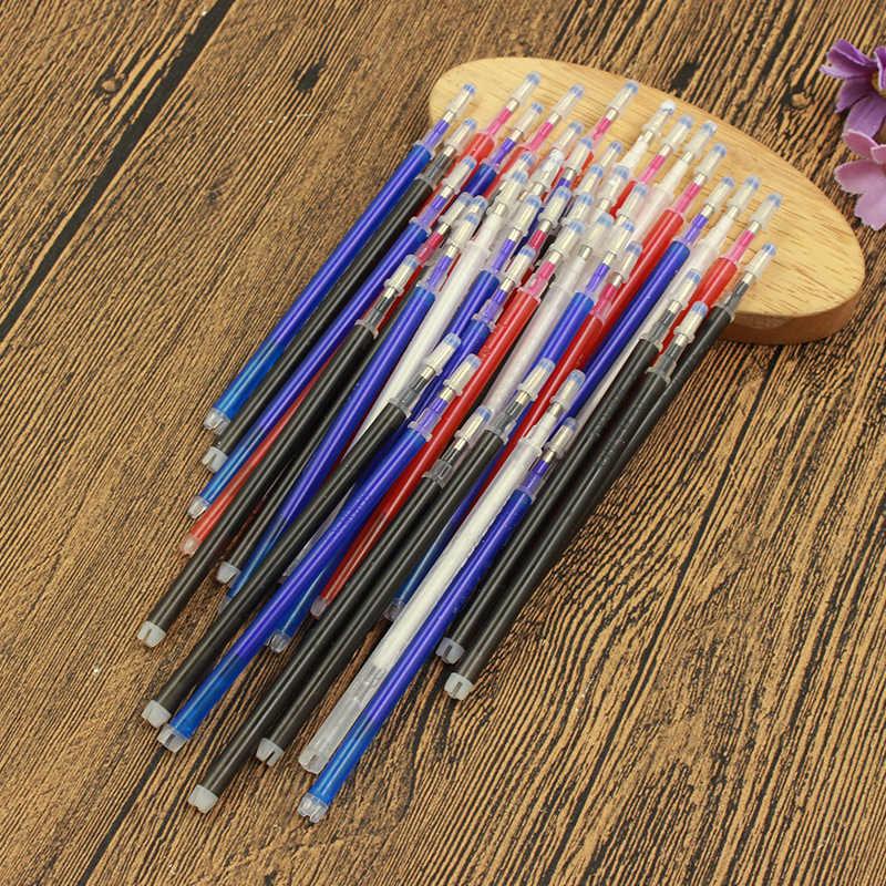10Pcs מחיק מילוי עטים גבוהה טמפרטורת נעלם בד מרקר עט עבור טלאי בד עור מפוצל סימן תפירת כלי