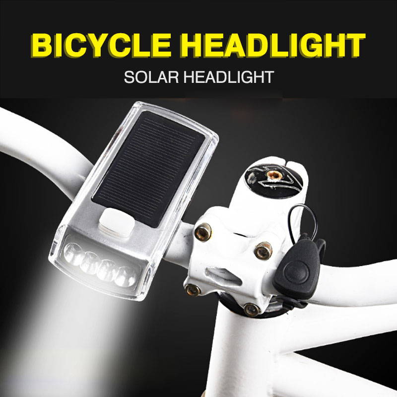 LED Bicycle headlight Solar headlights Bicycle LED Light USB Rechargeable Power Bank Optional Speaker Outdoor Supplies