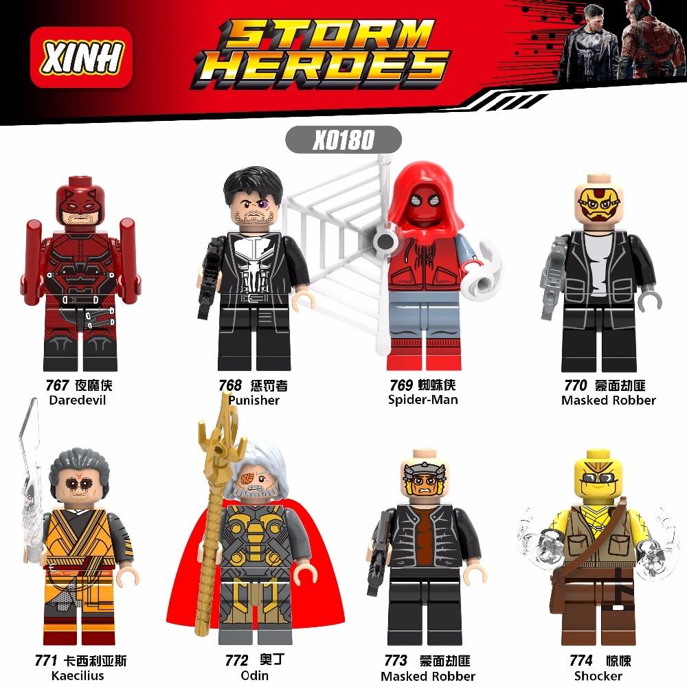 Kind-Hearted 6pcs Legoing Marvel Super Hero Avengers Deadpool Action Figure Domino Cable Spiderman Building Blocks Toys For Children Wm6050 Blocks Toys & Hobbies