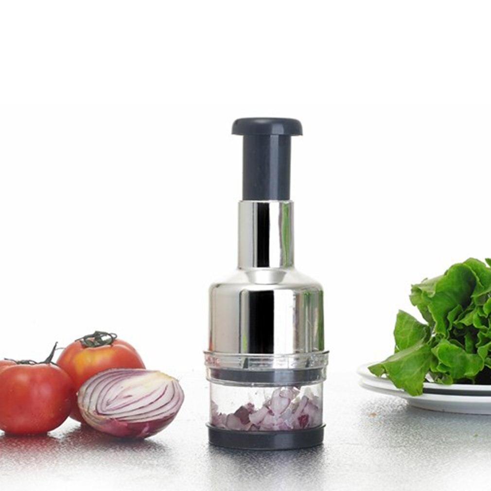 New Appuyant Sur Cuisine Inoxydable Légumes Ail Oignon Slicer Coupeur
