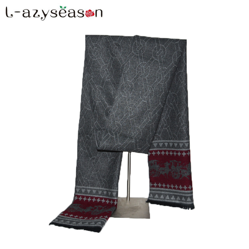 2018 Fashion design men's Winter Cashmere   Scarf   Men Luxury Brand High Quality Neckerchief Winter Warm Soft Shawls   Wraps     Scarves